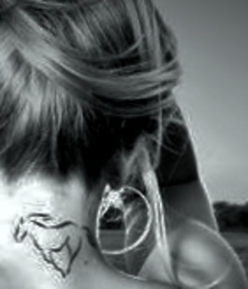 horse tattoo except on wrist in white? Almost feels like too much but I still love it