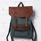 backpack/Vintage bag/unisex/messenger  bag canvas bag/leather leisure