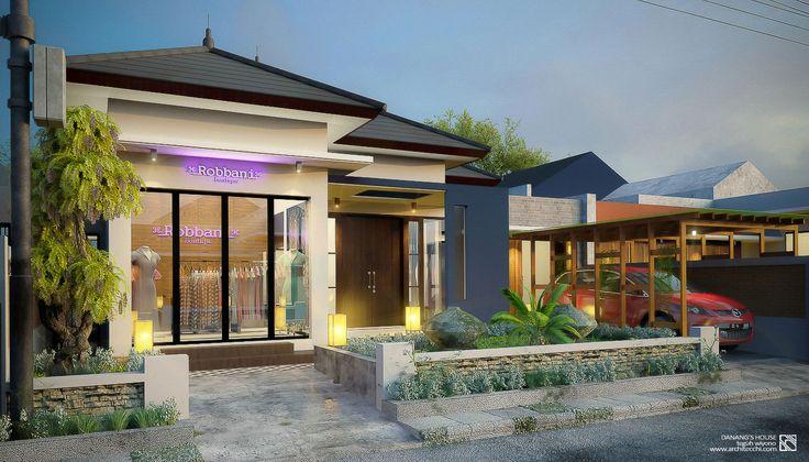 Arsitektur Desain Rumah 1 Lantai   Lebar Lahan 12,5 meter   Danang's House Pacitan   Rumah Butik   #Arsitek #DesainRumah #Architecchi