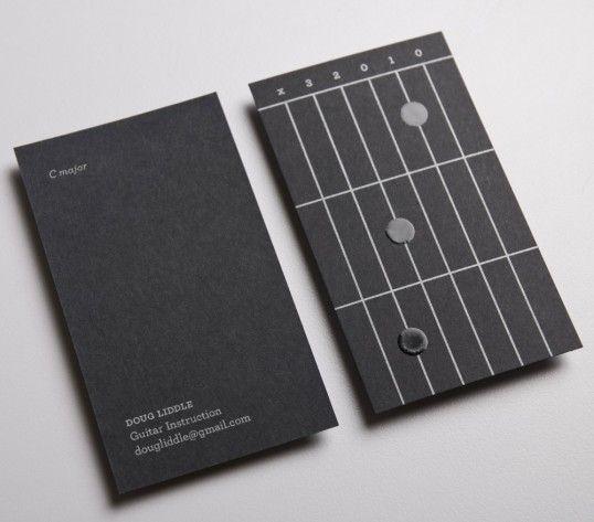 Doug Liddle Guitar Instruction, business cards designed by St. Bernadine Mission Communication Inc.