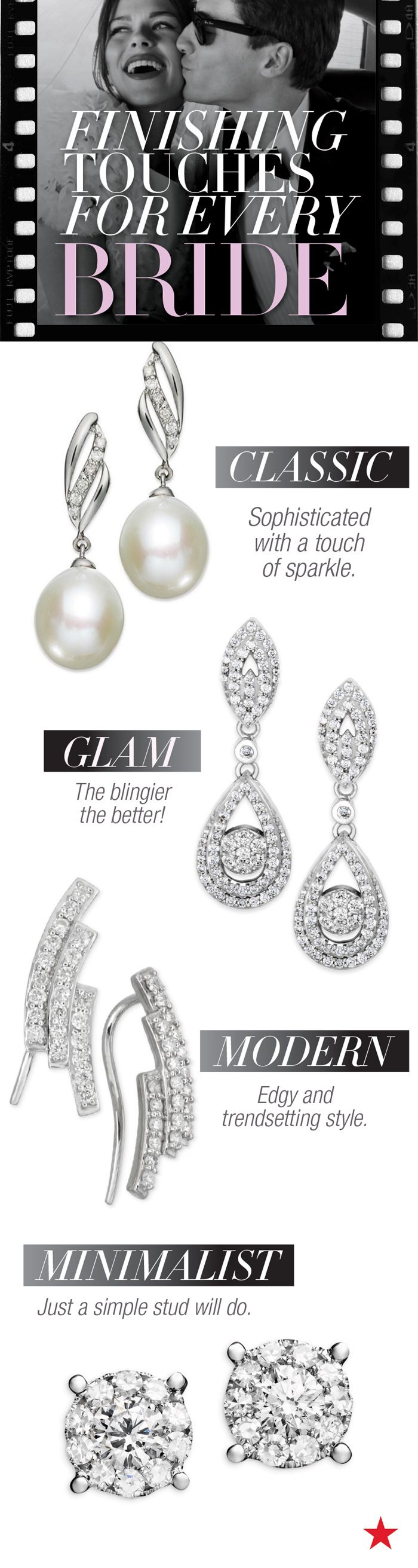 Finish Your Gorgeous Wedding Day Look With The Perfect Pair Of Earrings  With Styles From
