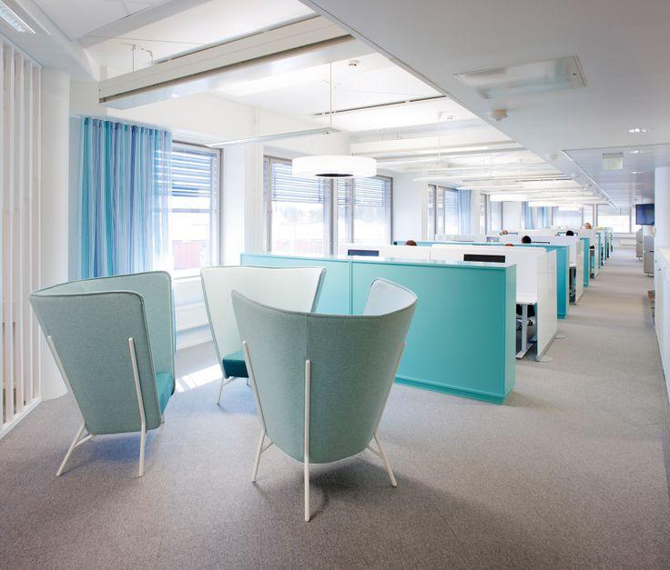 Isku toimitti sisustussuunnittelutoimisto dSign Vertti Kiven ja Co:n suunnittelemaan toimistoon 750 työpistettä.