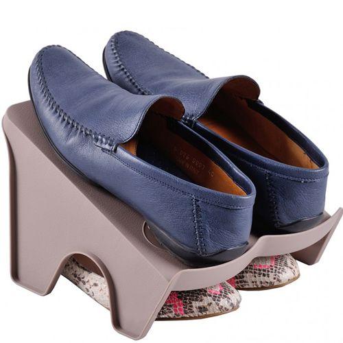 Коричневая двойная подставка для обуви Handy Home