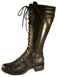High combat boots for women, made in Italy by Nero Giardini