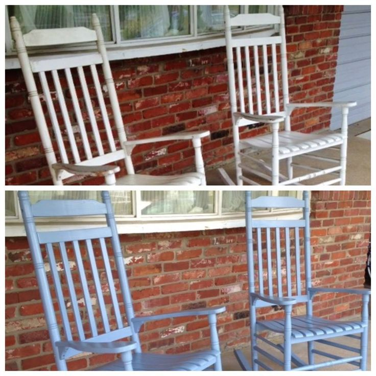 Painted rocking chairs #DIY #WhyReStore