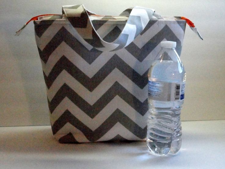 Large Lunch Bag, Adult Lunch Tote Bag, Insulated, Womens Lunch Bag, Zipper Top, Inside Pockets, Made To Order, You Choose Colors by SewProDesigns on Etsy