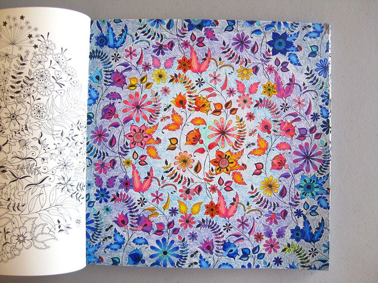 Finished Project Gallery Secret Garden Coloring BookThe