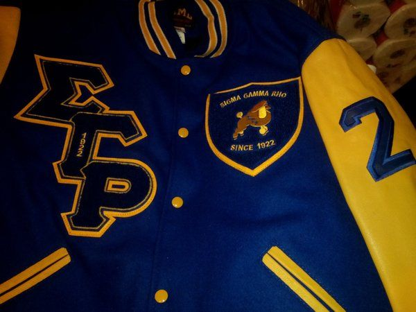 Sigma Gamma Rho Varsity Jacket | Greek Sorority apparel and accessories