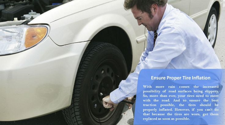 Check the tire pressure Underinflated tires wear out more quickly, decreasing the tires overall performance by reducing its lateral traction and braking grip capabilities. Also check to make sure the spare tire is properly inflated and ready to be installed if needed.  #nonstuddedtires