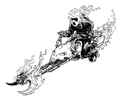 Speeder Bike Ghost Rider | Illustrator: Andy MacDonald - http://andymech.blogspot.com