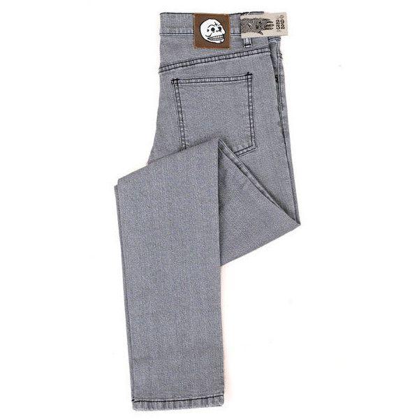 Cheap Monday 5730 Light Grey Narrow Leg Skinny Jean ($163) ❤ liked on Polyvore