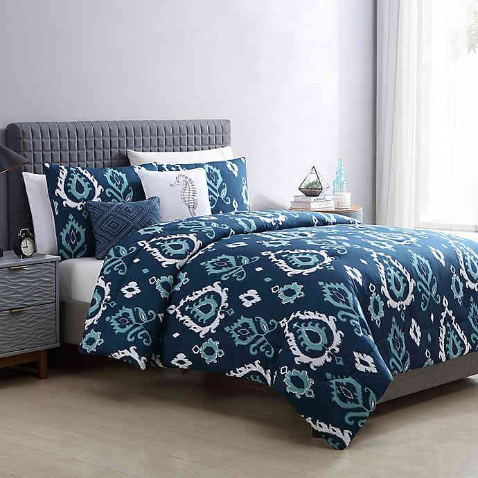 Vcny Home Blakely Comforter Set In Navy Bed Bath Beyond In