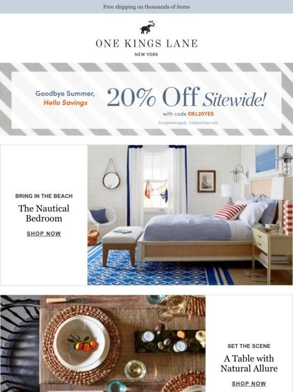 Milled Is A Search Engine For Email Newsletters Find Sales Deals Coupons And Discount Codes From Retailers And Brands Nautical Bedroom Home Decor Loft Bed