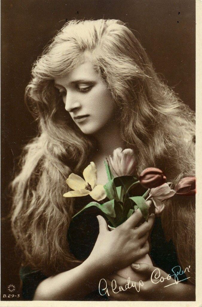 Hair hair hair hair. I want her hair. Miss Gladys Cooper - c. 1910 - @~ Mlle