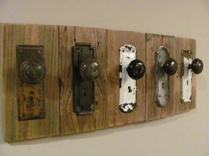 Doorknob coat rack.