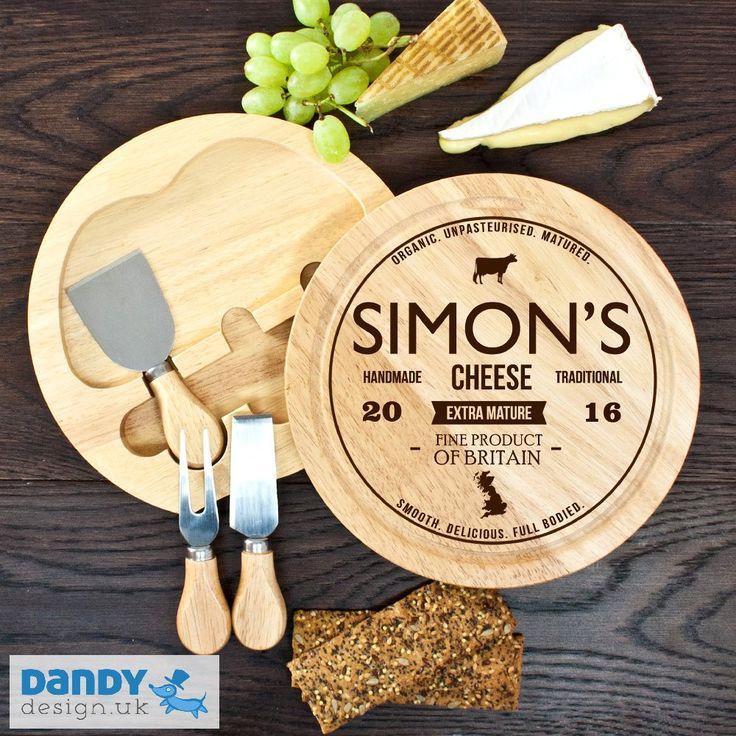 Personalised Fine British Cheese Board Set - Dandy Design UK