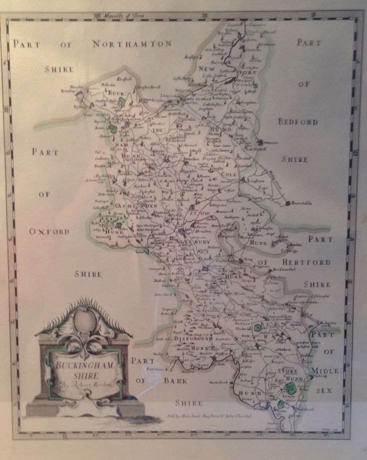Antique Map of Buckinghanshire Sally Turner