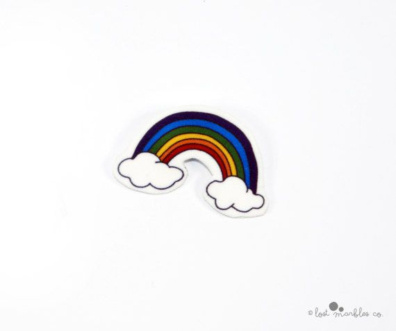 Rainbow Pin  Cute Brooch  Badge  Rainbow Brooch  Rainbow Gift  by Lost Marbles Co
