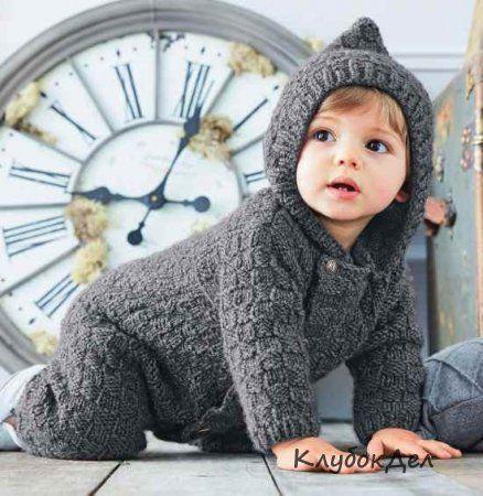 Комбинезон с капюшоном для новорожденных