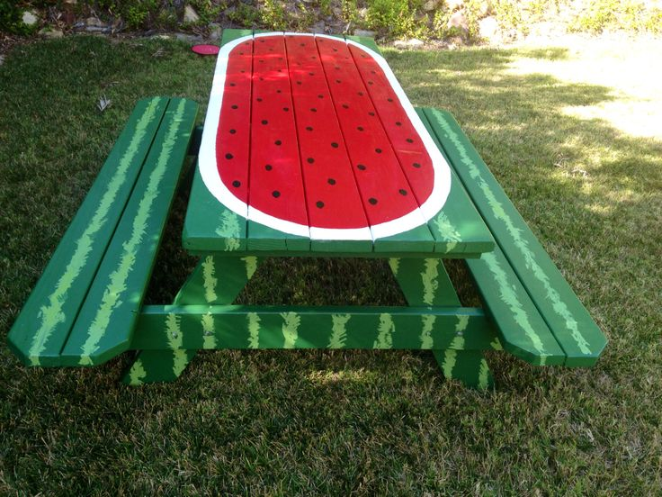 Painted Picnic Table Connie Pinterest