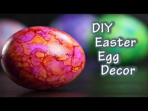 DIY Easter Egg Tutorial With Ink Stamped Decoration