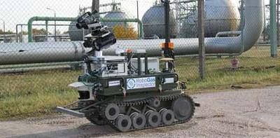 Remote detection and localisation of gas leaks with robots