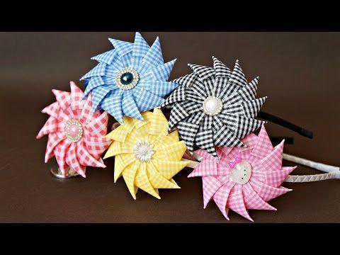 Цветы из лент своими руками /Канзаши/ Ribbon Flower Tutorial / DIY - YouTube