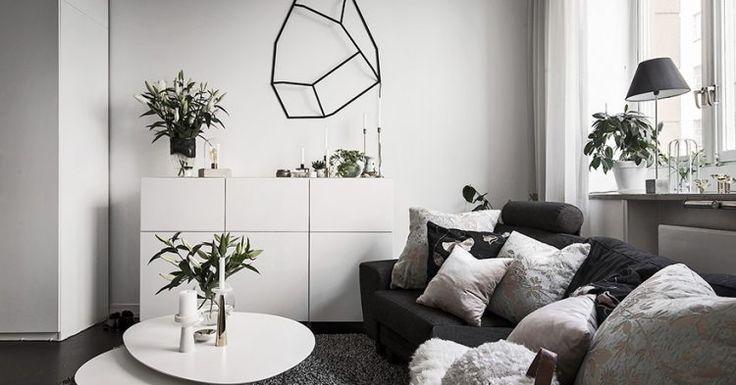 Post: Piso sueco de 37 m² geniales --> aprovechar espacio estudios, cocina abierta, cocina moderna, decoración estudios, decoración pisos pequeños, diseño interiores, Dormitorio elevado, minipiso, pisos pequeños, interior tiny places,interior design, small apartment, home decor