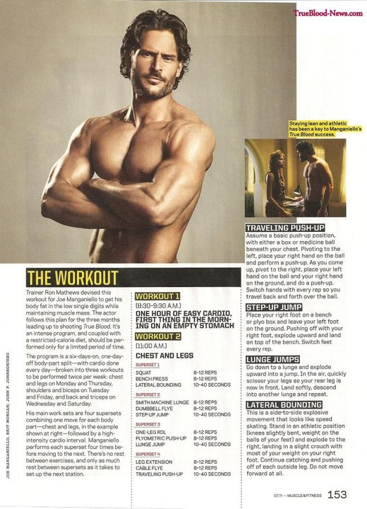 Joe Manganiello's workout
