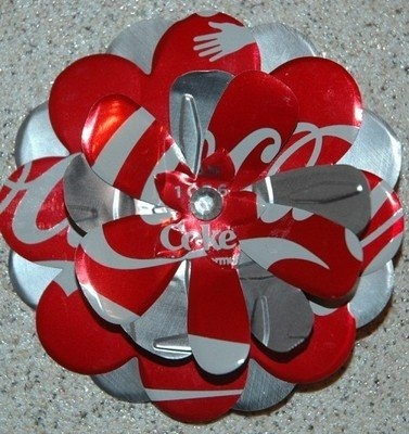 coke can flowers | Coca Cola Classic Flower Pin Lapel Handmade Craft Soda Can New Coke ...