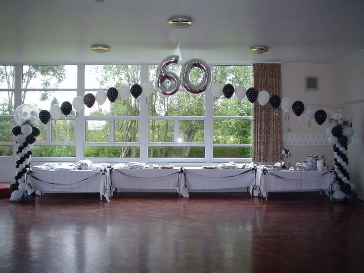 centerpieces for a male 60th birthday | Image detail for -you so much for the lovely balloons for my dads 60th ...