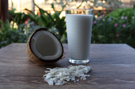 FRESH COCONUT MILK...homemade coconut milk is easy to make and is fresher and tastes better than coconut milk from the can or from the carton.  You can use either dried coconut or fresh coconut. It's so easy and tastes so good, you'll never buy coconut milk from the carton or can again.
