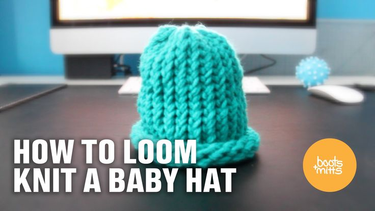 How to Loom Knit a Baby Hat  (Easy and Fast!)
