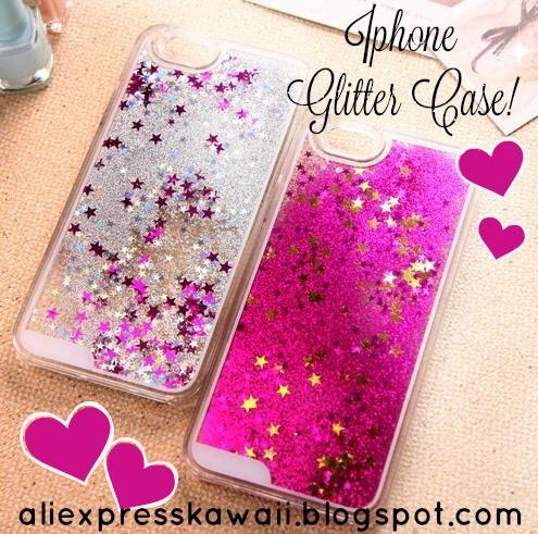 Aliexpress Kawaii Shopping: Iphone Glitter Case