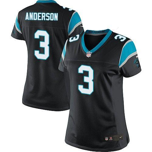 $24.99 Nike Limited Derek Anderson Black Women's Jersey - Carolina Panthers #3 NFL Home
