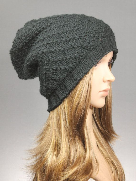 Knit Slouch Beanie Slouchy Hat Women Hat Knit Hat by GoKnitsDotCom