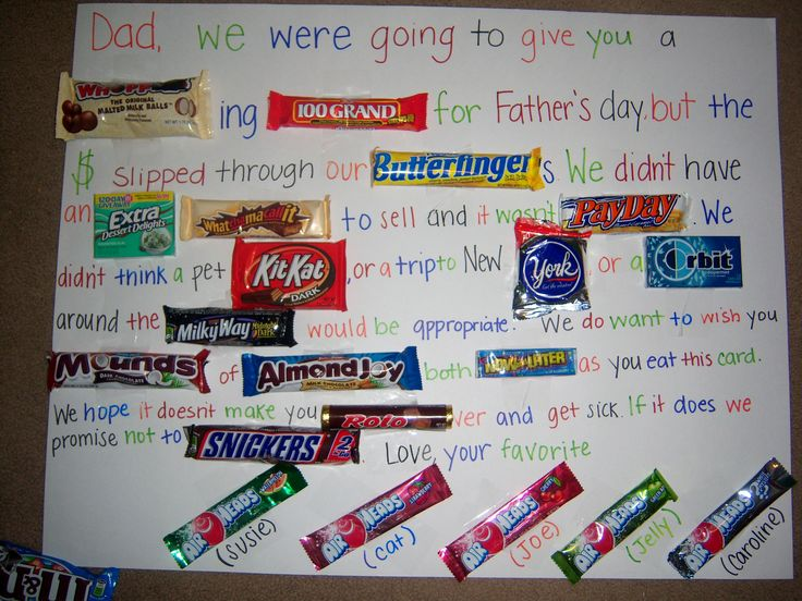 Candy Board- Father's Day