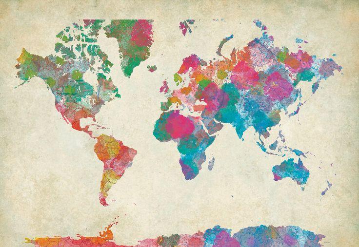 Παγκόσμιος Χάρτης υδατογραφία http://www.printcenter.com.gr/hartes-diakosmisi.html