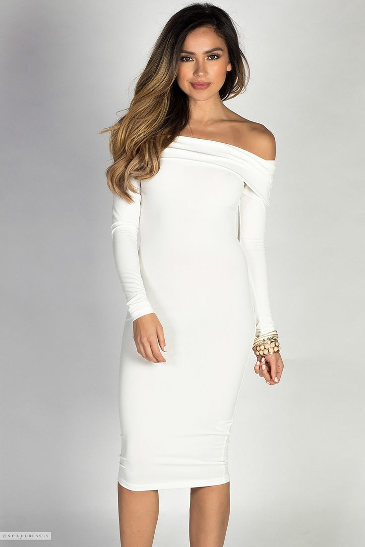 25  best ideas about White Dress With Sleeves on Pinterest   Long ...