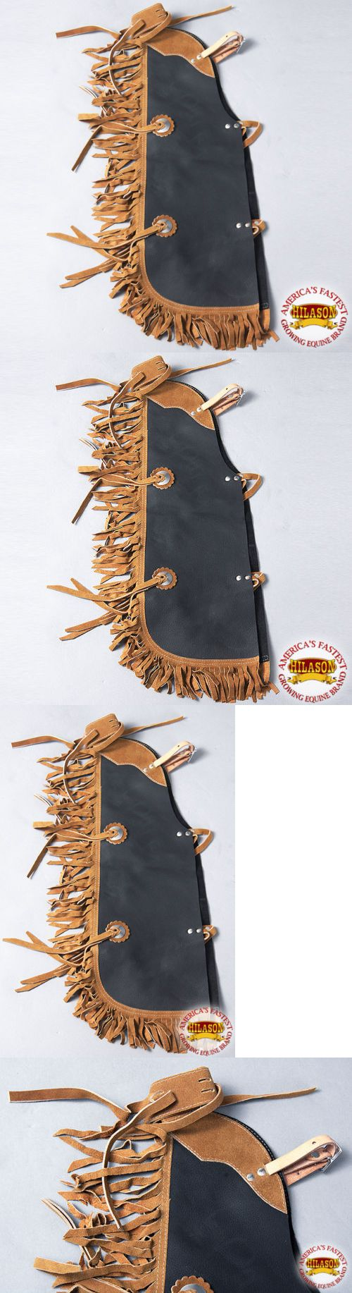 Western Chaps Full Chaps 183358: Cch904 Hilason Western Leather Kids Junior Youth Pro Rodeo Bull Riding Chaps -> BUY IT NOW ONLY: $69.99 on eBay!