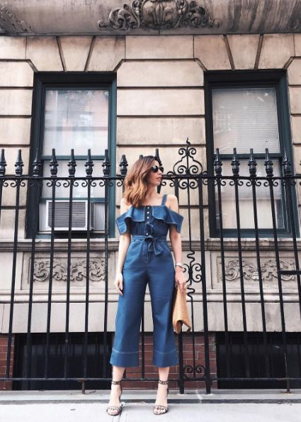 Camila Coutinho macacao pantacourt look jeans