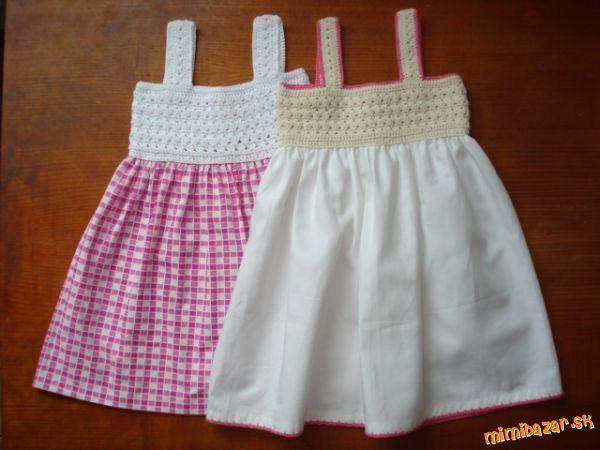 Jednoduché šatičky [] #<br/> # #Simple #Dresses,<br/> # #Girl #Dresses,<br/> # #Crochet,<br/> # #Tissues<br/>