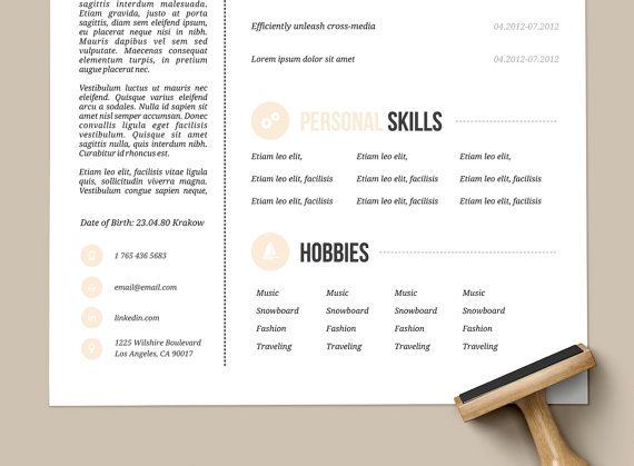 12 best resume + cover letters images on Pinterest Resume cover - hobbies in resume