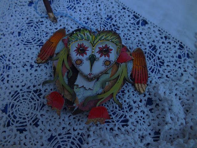 Calico Craft Parts: Floral Owl Chick - Julie Ann