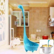 Nessie лох-несс монстр мультфильм кухня ложки с длинной ручкой ложки постоянный дизайн половник посуда посуда инструменты для приготовления пищи(China (Mainland))