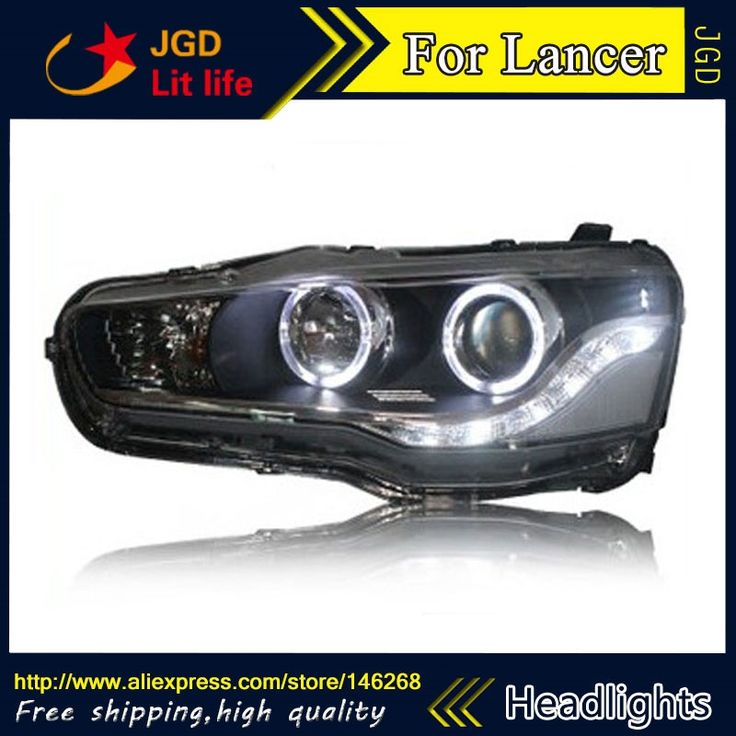 560.50$  Buy here - http://alig7u.worldwells.pw/go.php?t=32744288938 - Free shipping ! Car styling LED HID Rio LED headlights Head Lamp case for Mitsubishi Lancer 2009-2011 Bi-Xenon Lens low beam