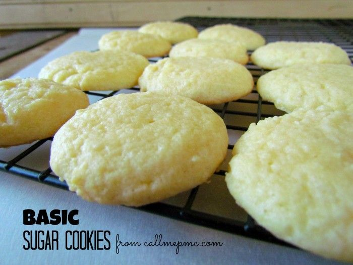 Scratch-made Easy Sugar Cookies - these were easy and came out soooo good...I mixed in sprinkles instead of topping them with them.