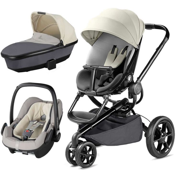 Quinny Moodd Special Edition Rachel Zoe Travel System: Quinny Moodd Black Frame 3in1 Pebble Plus Travel System