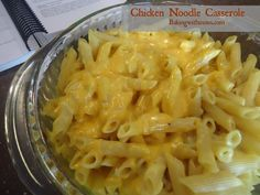 Chicken Noodle Casserole is cheesy, full of chicken and cooks in a hurry. Make this recipe on your busiest of evenings.