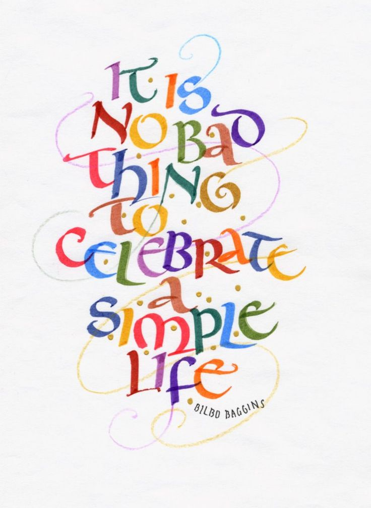 It Is No Bad Thing To Celebrate A Simple Life: The Simple Life